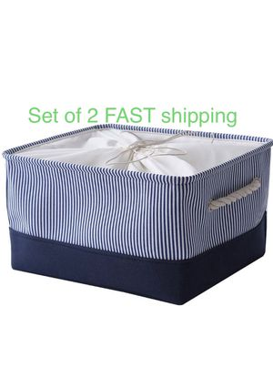 2 collapsible Storage bins containers blue baskets for Sale in Marion, NC