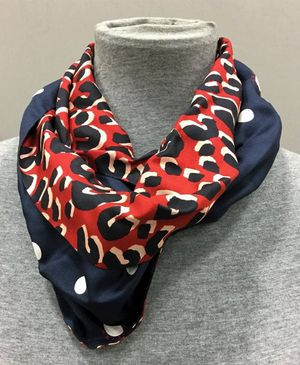 LOUIS VUITTON Blue/Red Leopard Silk Infinity Scarf for Sale in Carmel, IN