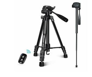 UBeesize 60in. Camera Tripod, MT60 Aluminum Monopod Tripod Combo, Lightweight Professional Travel Video Camera Stand for DSLR, SLR, Cell Phone for Sale in Norco, CA