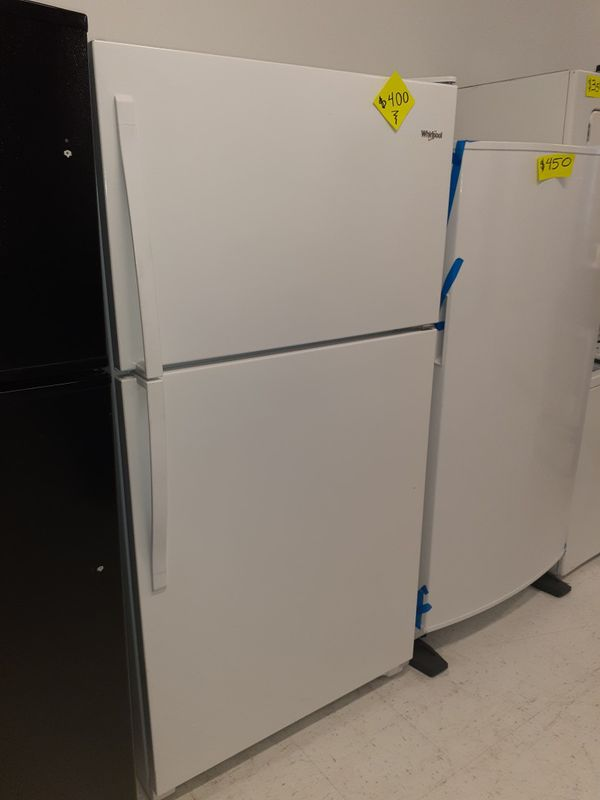 """Whirlpool 33""""wide refrigerator in excellent condition with 90 days warranty"""