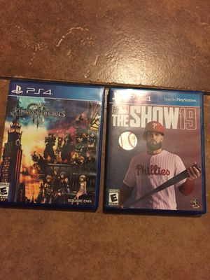 PS4 games (KH3 and MLB 19) for Sale in Chula Vista, CA