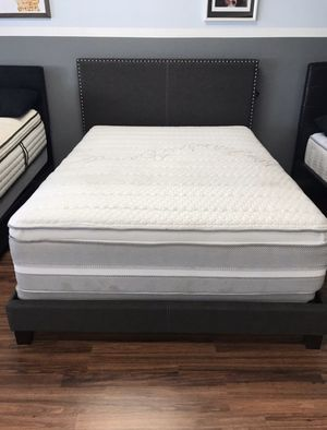 HOT BUY! NEW FABRIC BED FRAME : TWIN / FULL / QUEEN / KING / CAL KING : MATTRESS SET SOLD SEPARATELY - BOX SPRING REQUIRED for Sale in Concord, CA