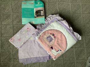 NEW Tiddliwinks Princess colection 3pc Baby Crib Bedding Set for Sale in Portland, OR