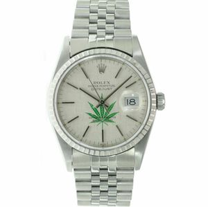 Rolex Mens Datejust Watch Stainless Steel Silver 4/20 Leaf Dial 36mm 16220 for Sale in Westminster, CA