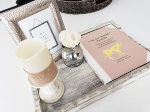 Rustic glam coffee table decor for Sale in Irvine, CA