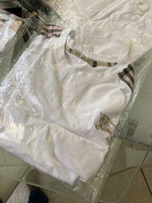 Unisex White Burberry T-Shirt for Sale in Henderson, NV