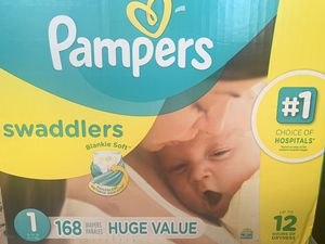 Pampers Swaddlers Size 1 for Sale in Temple Terrace, FL