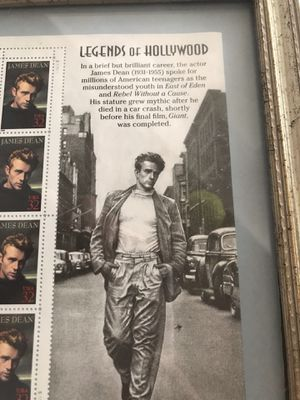 Hollywood Legends James Dean vintage collectible stamps for Sale in Trabuco Canyon, CA