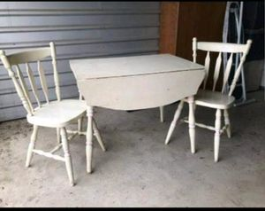 VINTAGE drop leaf table & 2 chairs for Sale in Victoria, TX