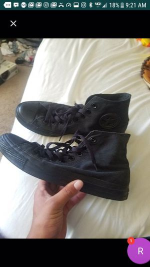 Black Converse Hightop Size 8 for Sale in San Diego, CA