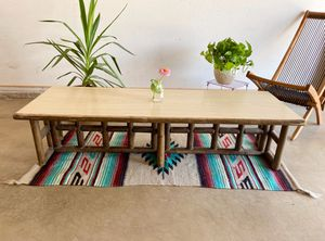 Vintage Boho Chic Bamboo Rattan and Wicker Table Set for Sale in Tempe, AZ