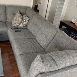 Living Spaces L Shaped Couch With Ottoman for Sale in Coronado,  CA