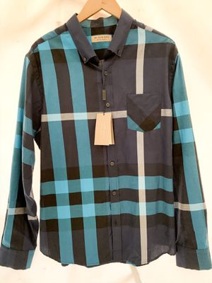 Brand New Burberry Men's Shirt Blue for Sale in Inglewood, CA