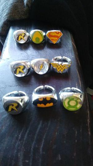 Dc super hero rings for Sale in Garden Grove, CA