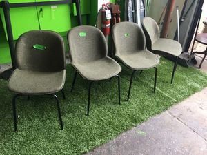 Dark green fabric dining chairs set of 4 for Sale in Queens, NY