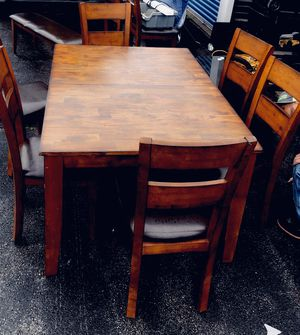Table (with extension) it comes with 6 chairs and 3 barstools. for Sale in Eddington, ME