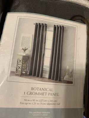 TWO panels curtains grommet for Sale in West Palm Beach, FL