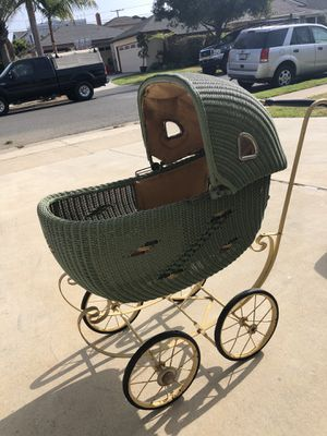 Antique Wicker Baby or Doll Carriage for Sale in Seal Beach, CA