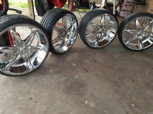 "22"" Wicked Dip Wheels Brand with Tires for Sale in San Antonio, TX"