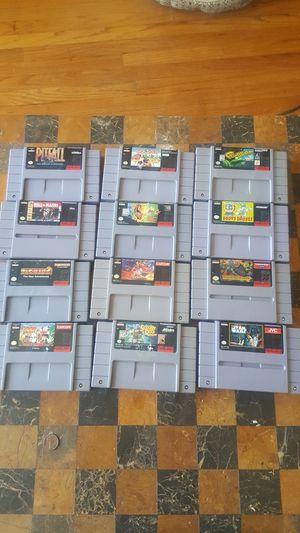 12 super Nintendo games for Sale in Chicago, IL