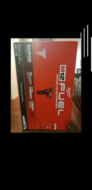 Milwaukee M12 FUEL SURGE 12-Volt Lithium-Ion Brushless Cordless 1/4 in. Hex Impact Driver Compact Kit w/(2) 2.0Ah Batteries, Bag for Sale in Riverside, CA