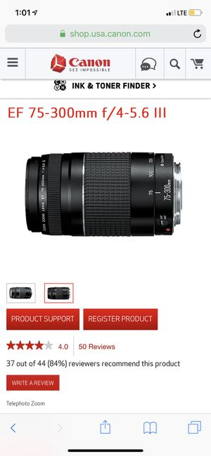 Canon lens 75-300mm for Sale in Baltimore, MD