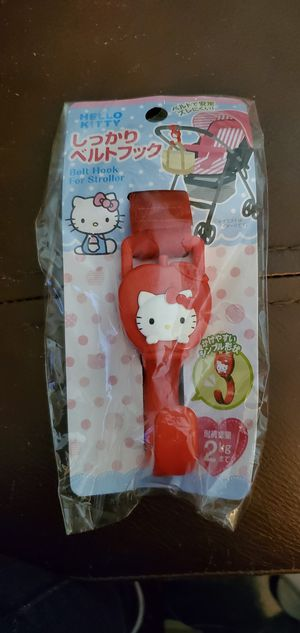 Sanrio Hello Kitty Belt Hook for Stroller Load Weight 2 kg (Red) for Sale in Las Vegas, NV