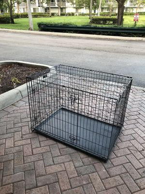 Large Dog Cage 42 x 30 x 28 folds flat folds away... for Sale in Sunrise, FL