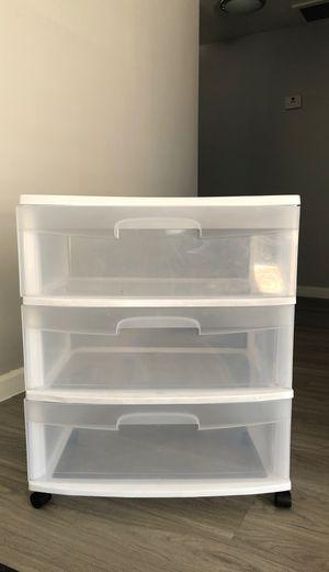 3 tier Large plastic drawers for Sale in Phoenix, AZ