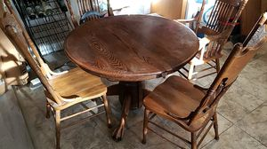 Kitchen table with chairs and extension for Sale in Visalia, CA