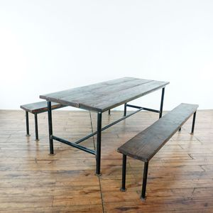Wood Dining Table and Benches (1023121) for Sale in South San Francisco, CA