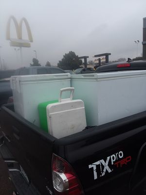 2 deep freezers and 1 cooler all work perfectly fine for Sale in Denver, CO
