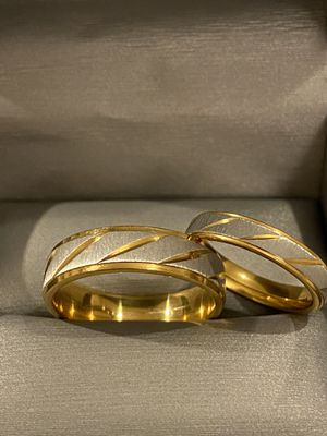 18K Gold plated Wedding Matching Ring Set - Code SOBH10 for Sale in Miami, FL