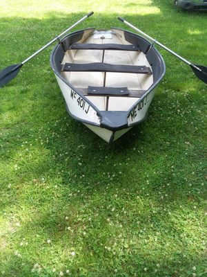 12 foot Collapsible boat with trolling motor. for Sale in Unorganized Territory of Perkins, ME