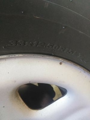 KLEVAR A/T tires from a TJ Jeep Wrangler 4+spare with OG Jeep rims for Sale in Riverside, CA