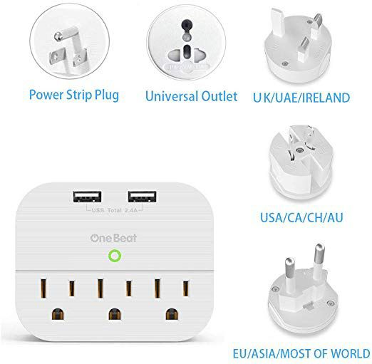 Multi plug wall outlet for us. Uk. And Australia NEW