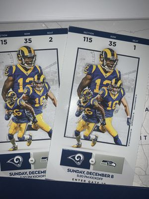 Los Angeles Rams vs Seattle Seahawks SNF for Sale in Fontana, CA