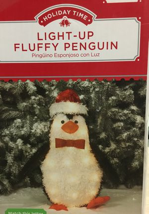 Christmas light up fluffy penguin. It is 22 inches tall. for Sale in Lampasas, TX