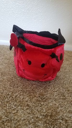 Halloween candy trick or treat bag bucket basket ladybug lady bug costume children's renaissance fair birthday party picture prop for Sale in Avondale, AZ
