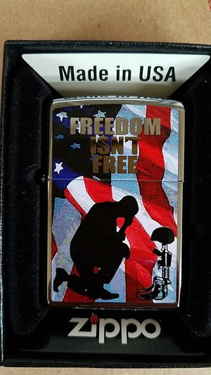 Zippo freedom isn't free high polished chrome 28336 for Sale in Los Angeles, CA