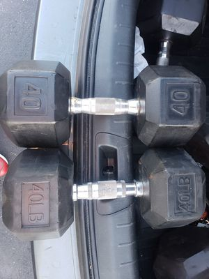 40lb Rubber Coated Dumbbells for Sale in Lakewood, CA