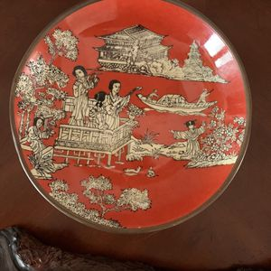 Vintage Coral Hand Painting Porcelain Plate for Sale in San Diego, CA