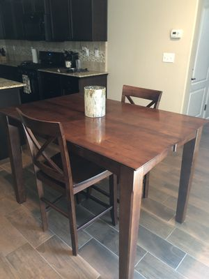 Dark Cherry Pub Height Dining Table and Chairs for Sale in Fresno, CA