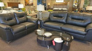 GREAT SOFA AND LOVESEAT SET IN BLACK for Sale in Portland, OR