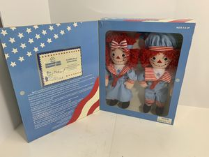 2002 Applause Raggedy Ann & Andy with certificate NEW for Sale in Elgin, IL