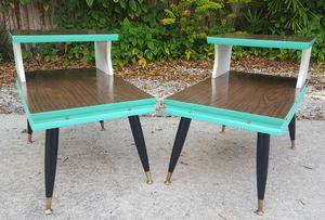 Pair Unique MCM 1960s Vintage End Tables for Sale in Orlando, FL