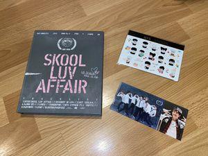 BTS SKOOL LUV AFFAIR ALBUM + STICKER PACK + SUGA PHOTOCARD for Sale in San Jose, CA