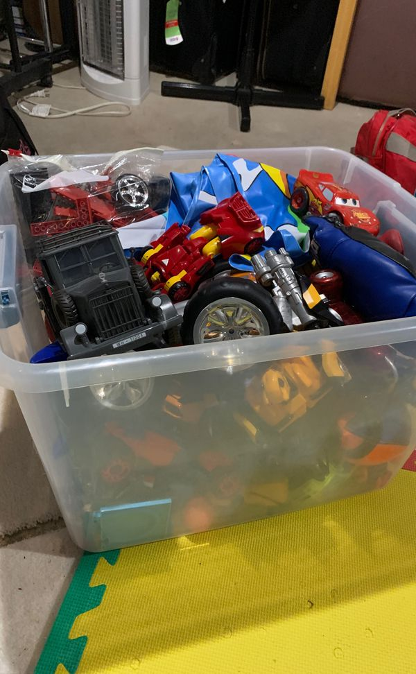 Box of toys for kids