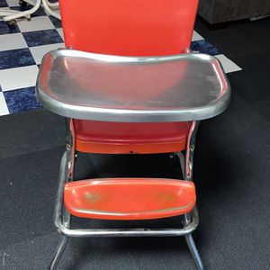 Vintage Retro Red High Chair for Sale in Bellwood, IL