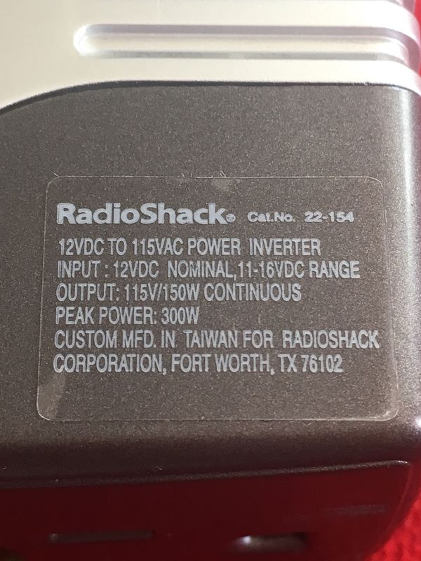 Power Inverter Radioshack 150w With Ac And Dc Output For Sale In Las